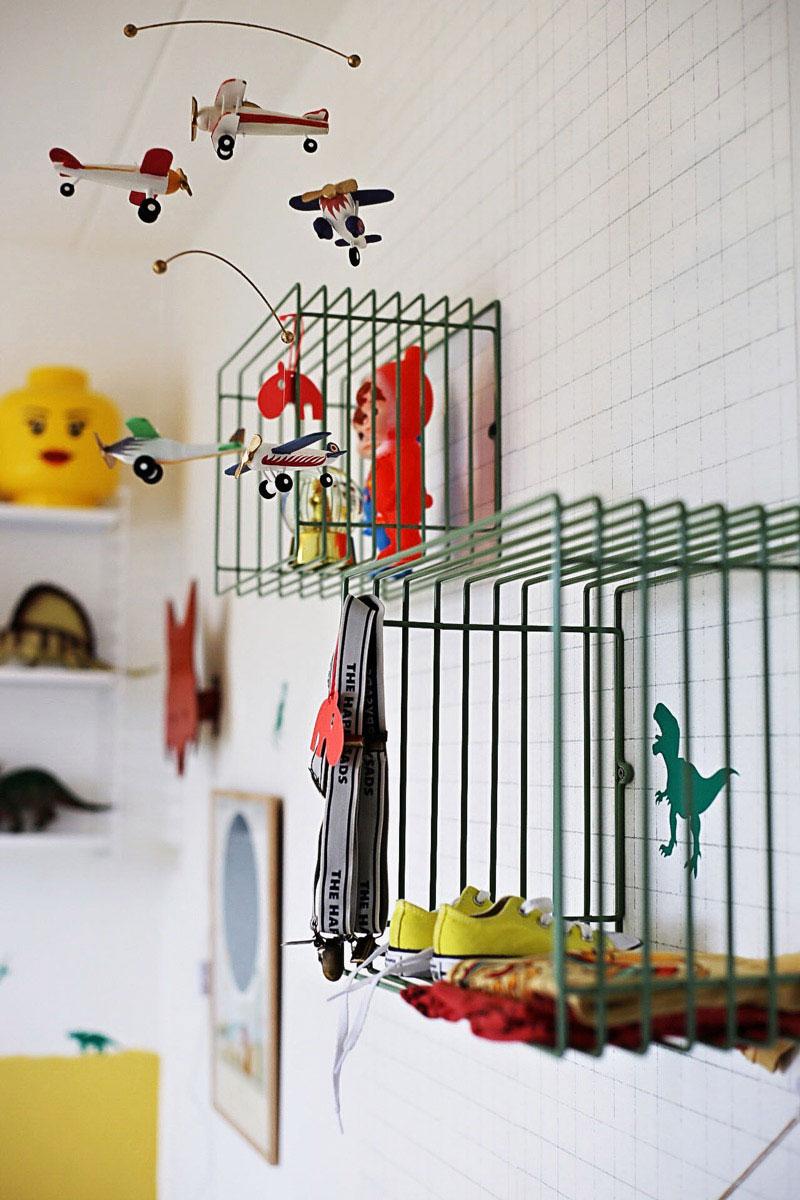 metal shelves kid's room