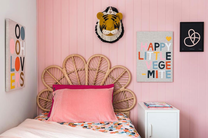 millenial pink kids rooms