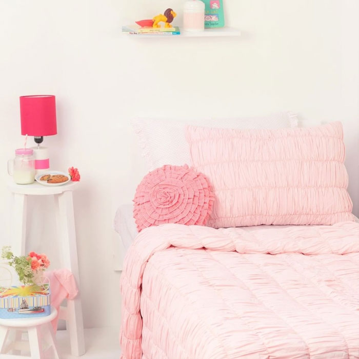 pink kids bedding