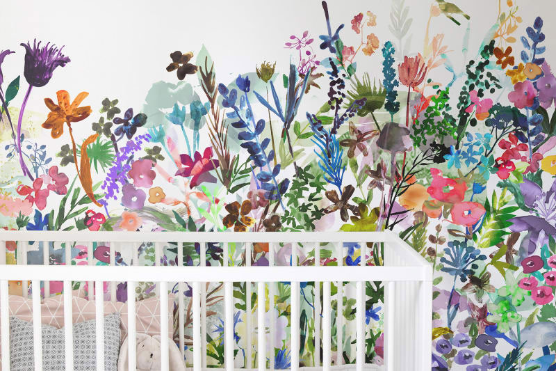 garden nursery wallpaper