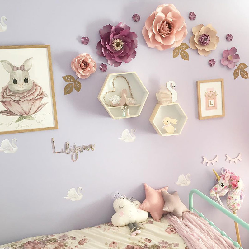 flower paper wall decor