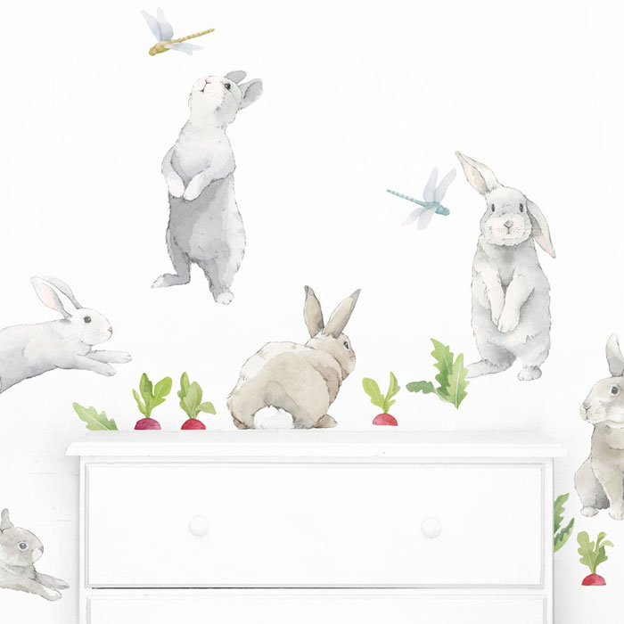 bunny wall decor for children's room