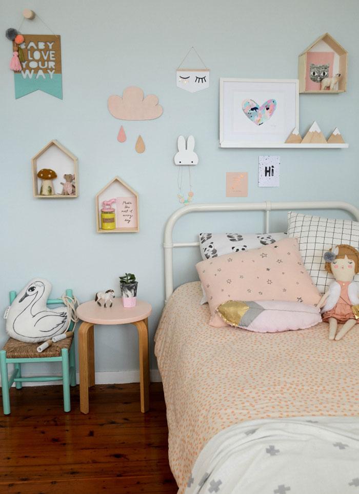 pastel spring girl's room