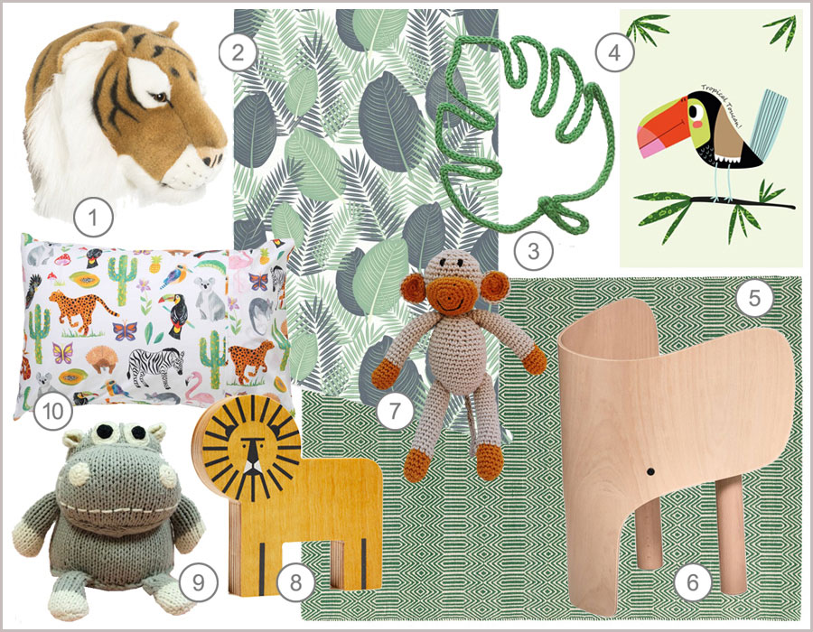 jungle kids décor