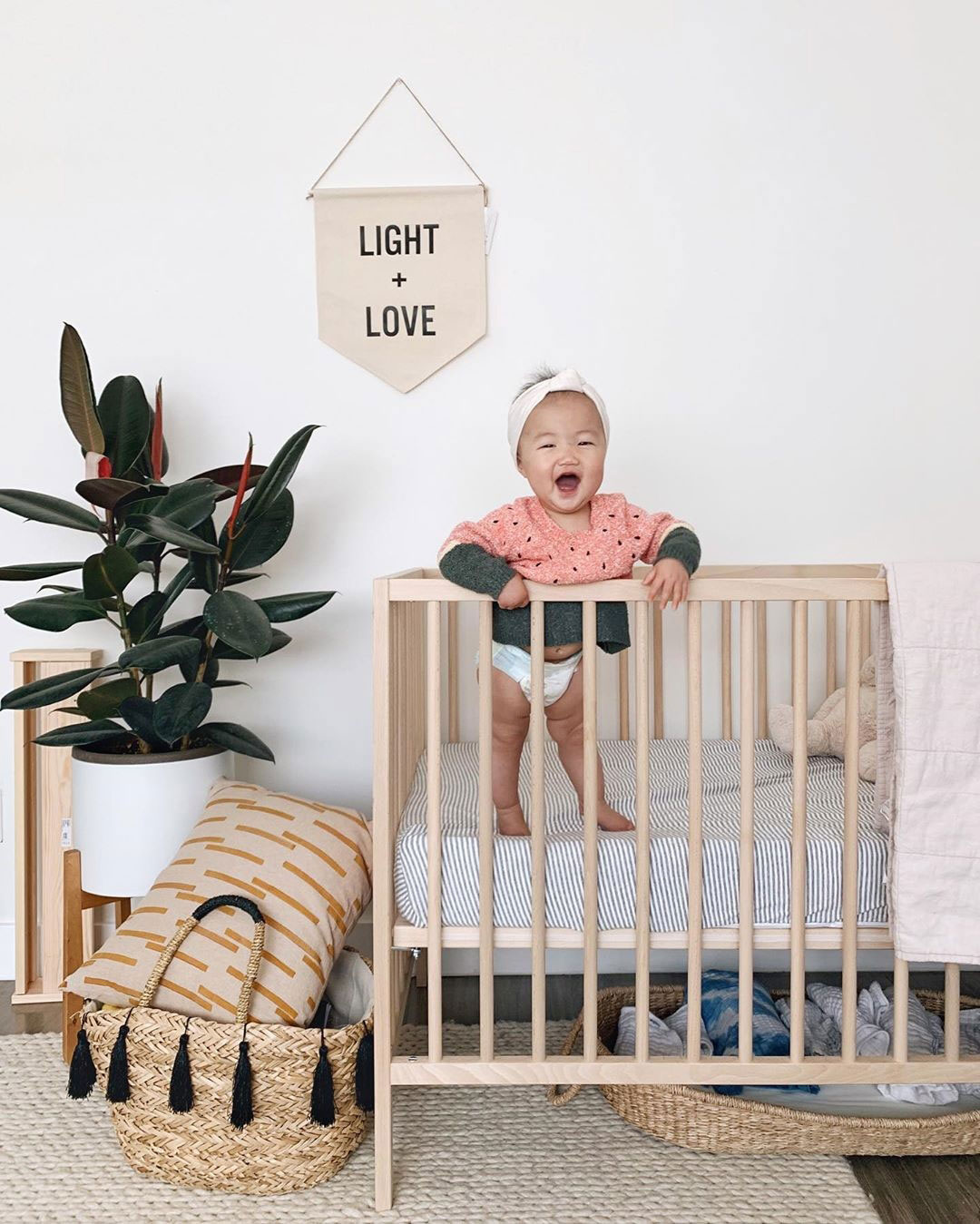 natural earthy baby room