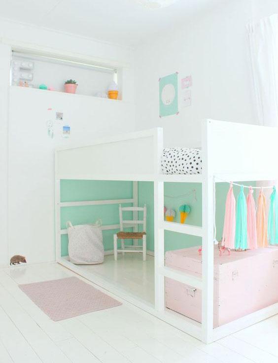 pastel turquoise kids room