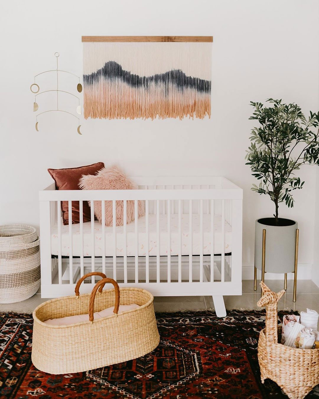 tye dye wall hanging nursery