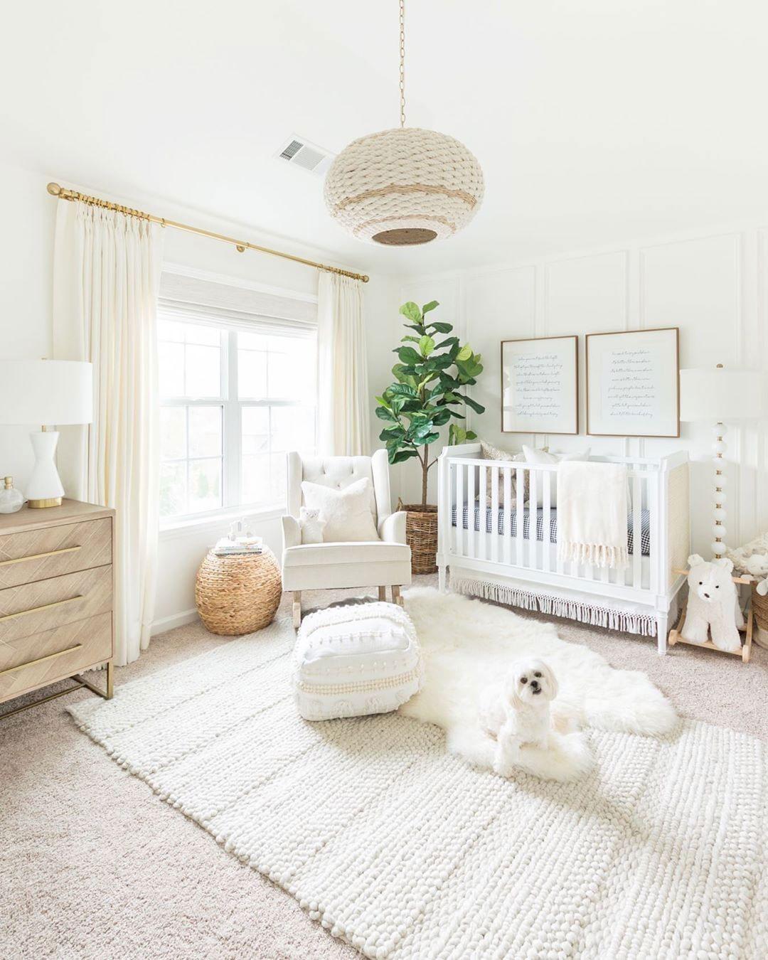 white airy baby nursery