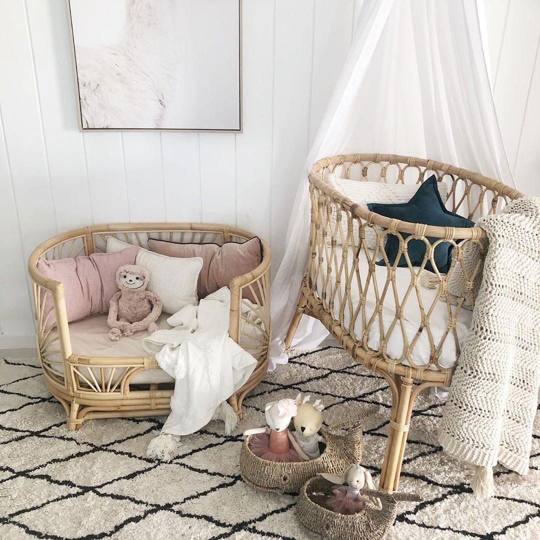 rattan crib and baby furniture