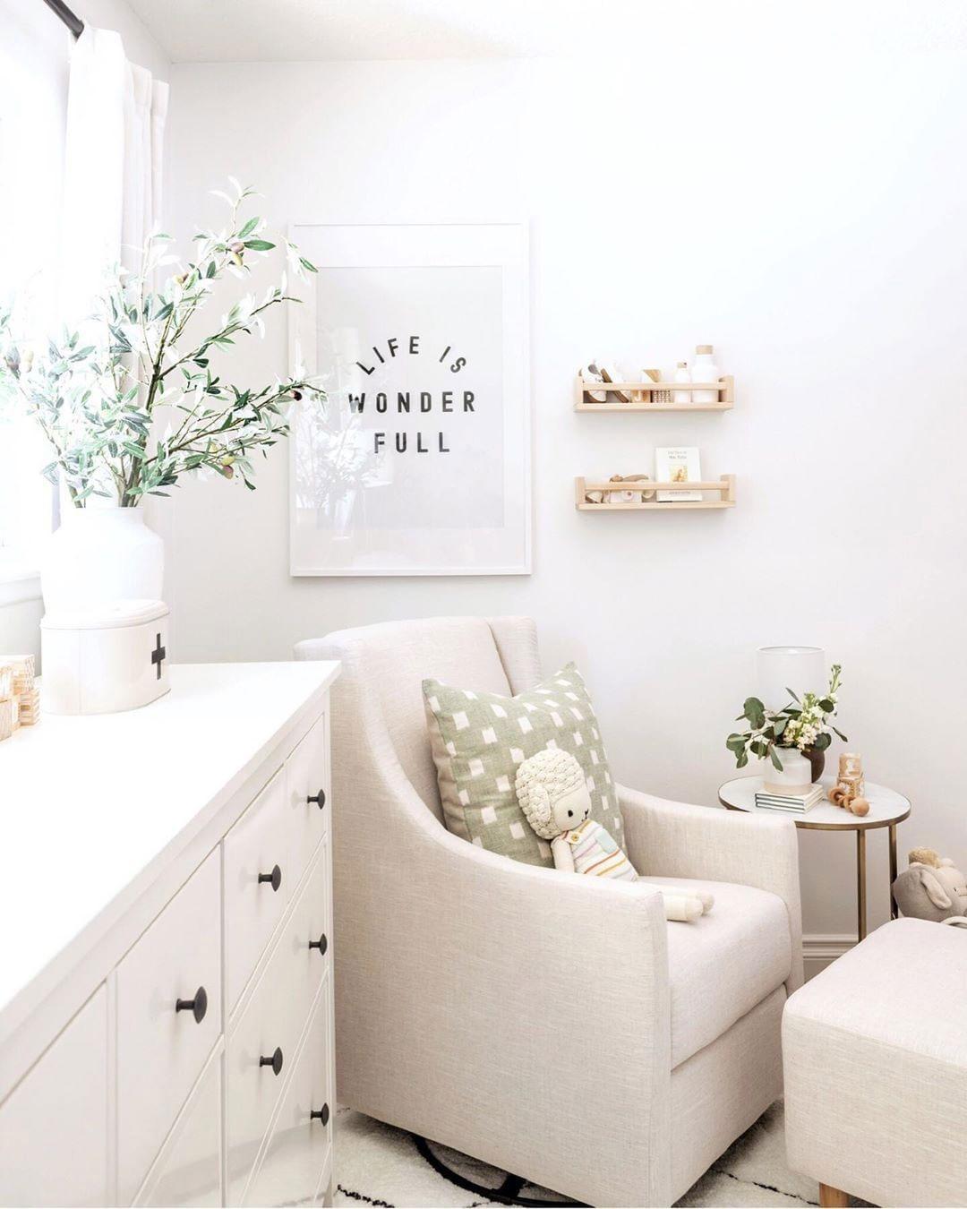 white nursery chair