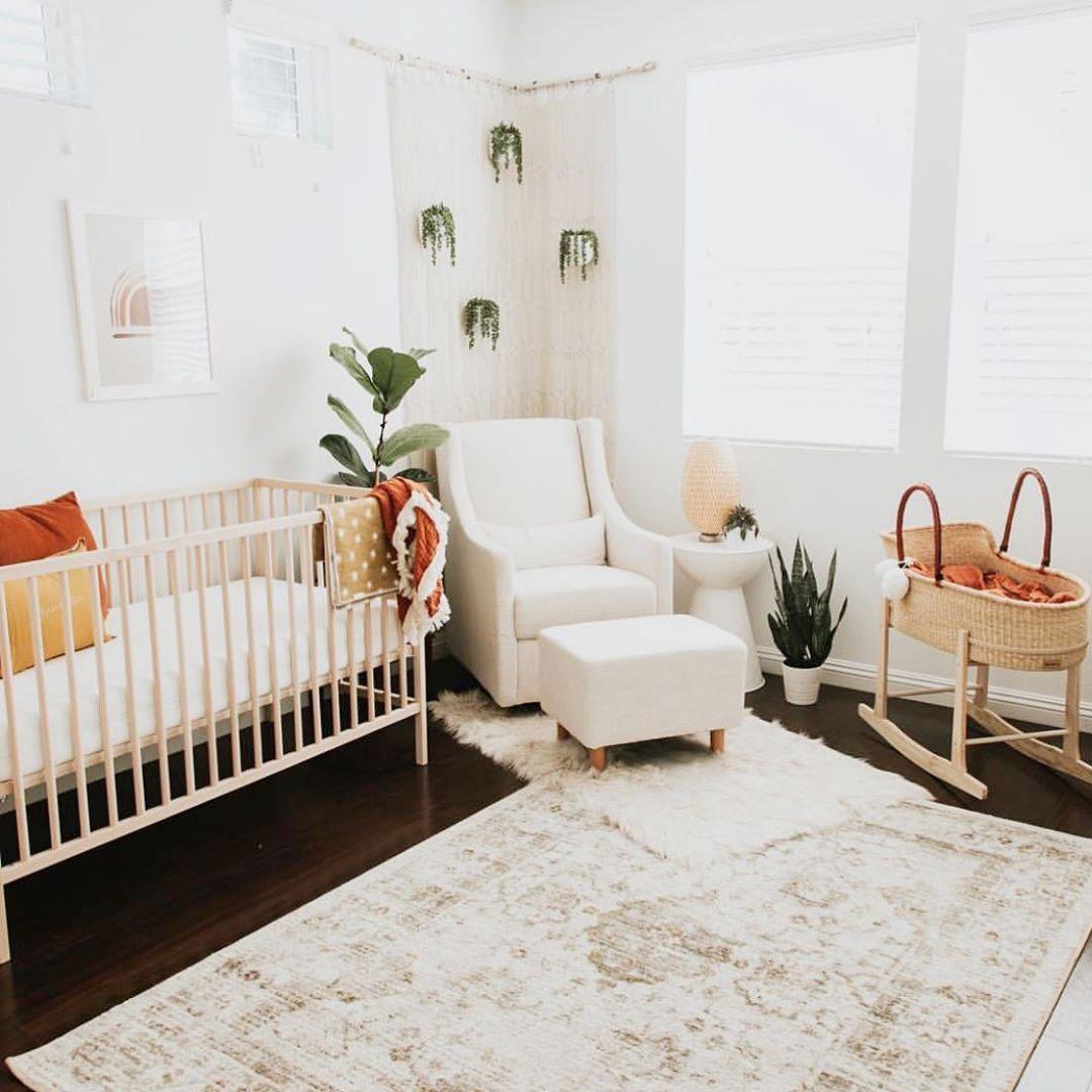 earthy baby room