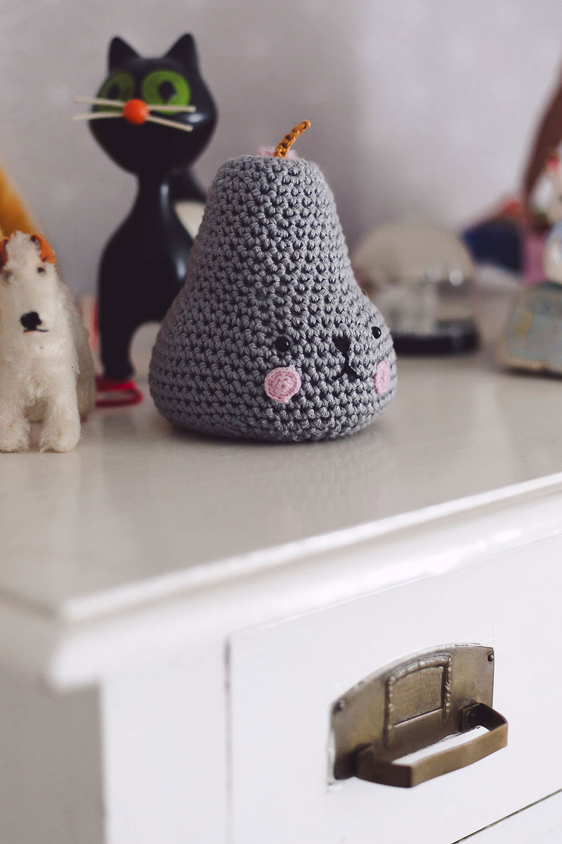 crochet pear toy