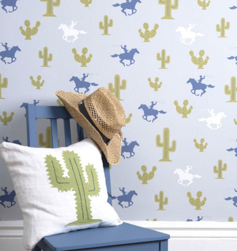 Hibou Home cactus wallpaper