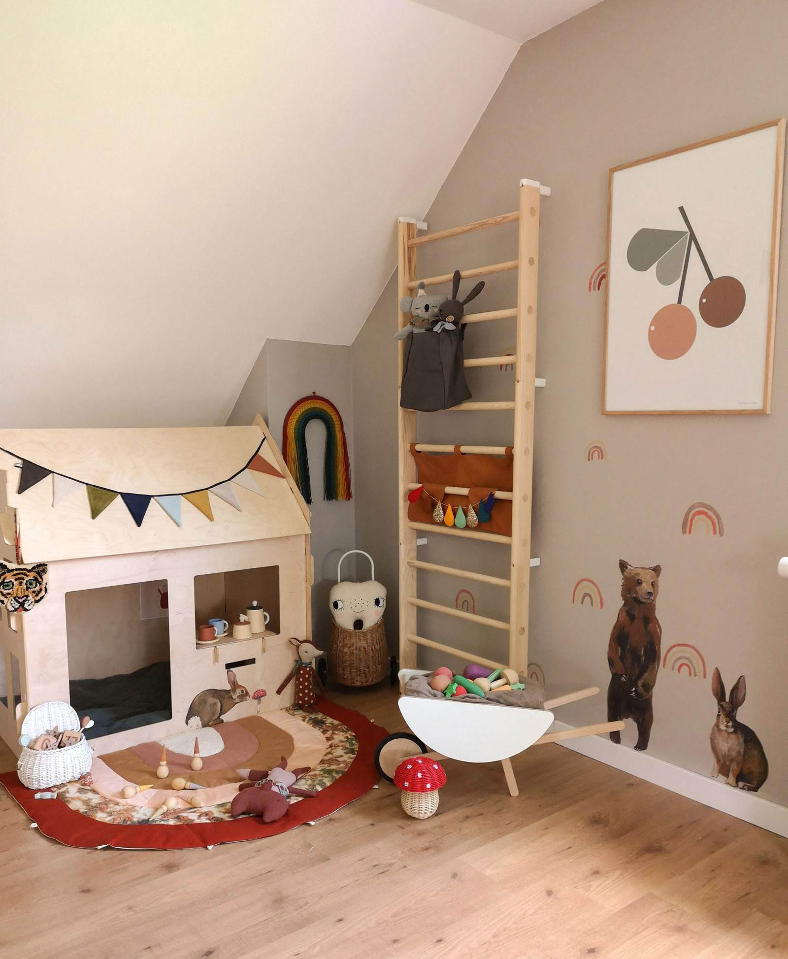 wooden house for kid's room