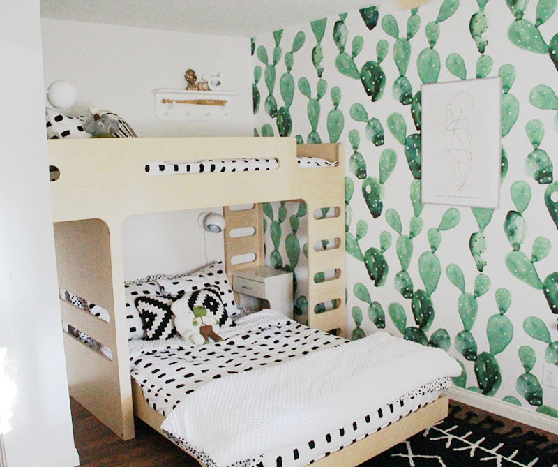 cactuses in kids' rooms