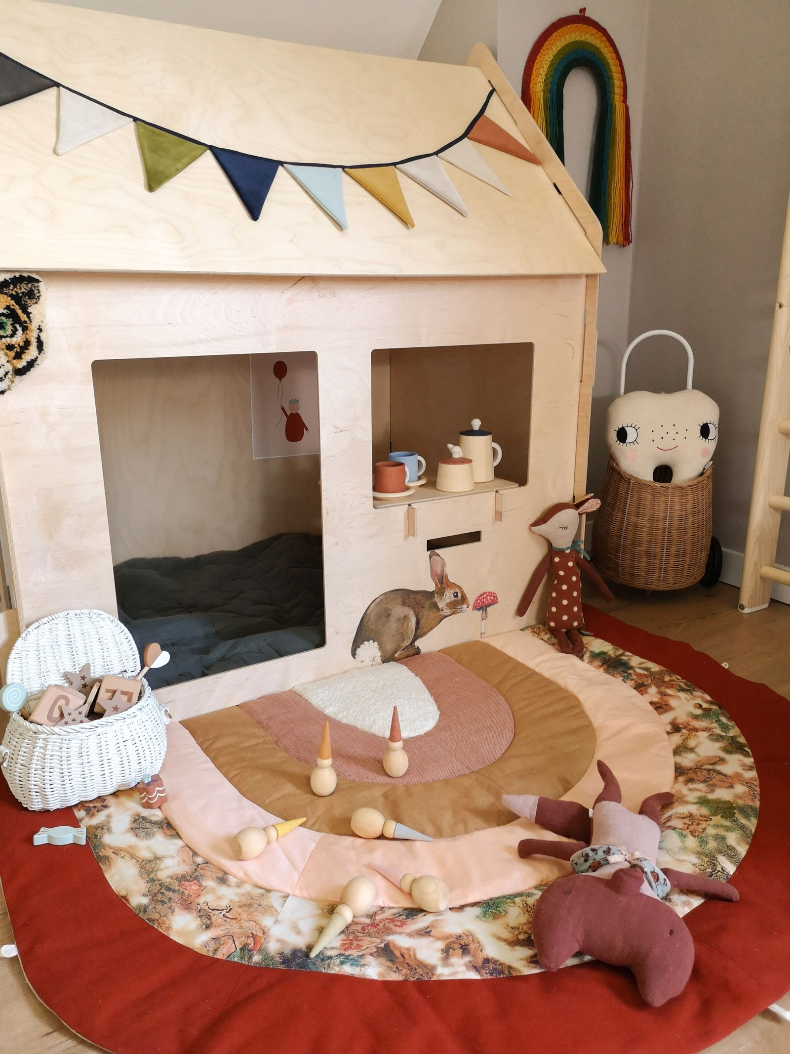 wooden indoor playhouse