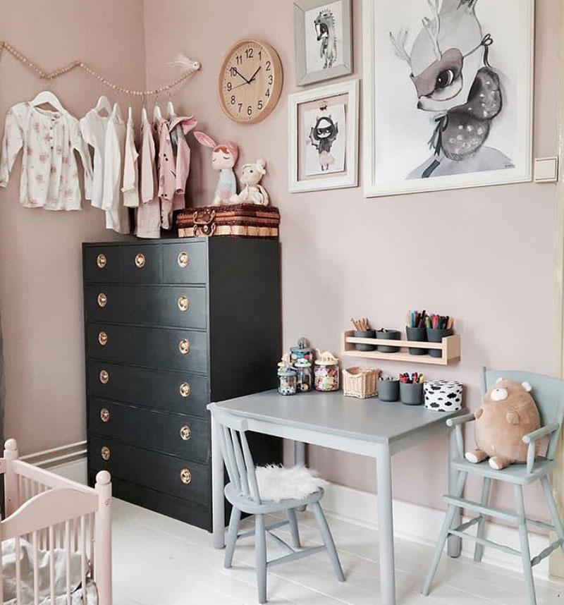 vintage storage cupboard kid's room