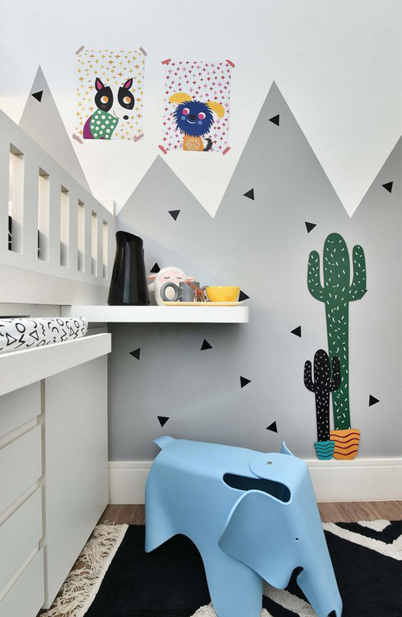 cactus stickers kids room