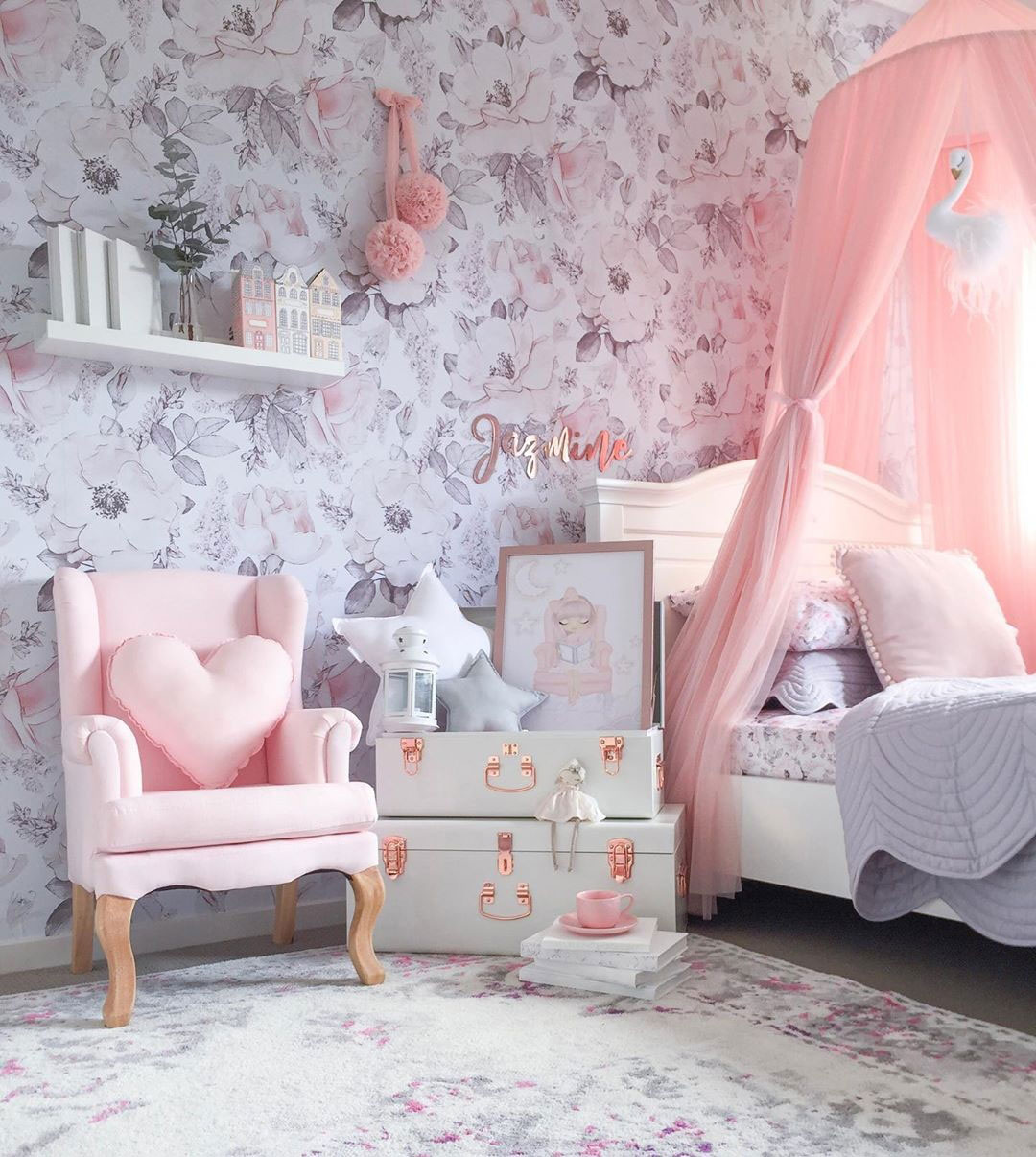 girly feminine girl's room