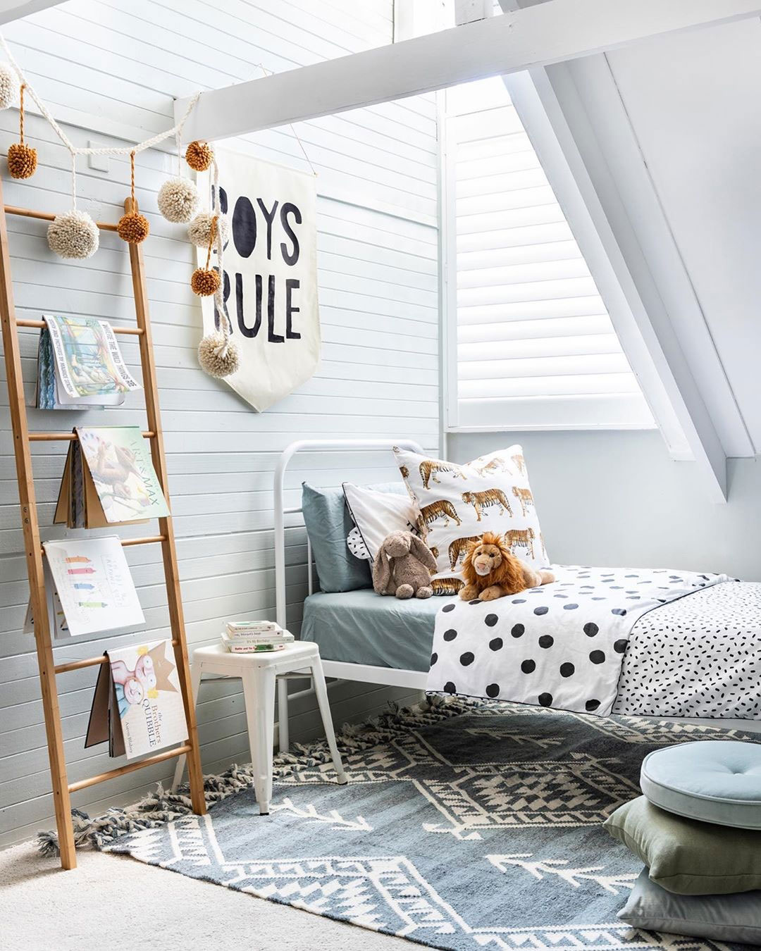 boys rule wall banner