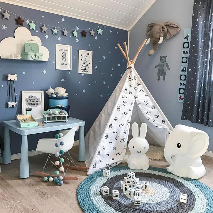 blue kids play room