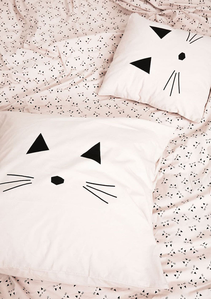 liewood cat pillows bedding
