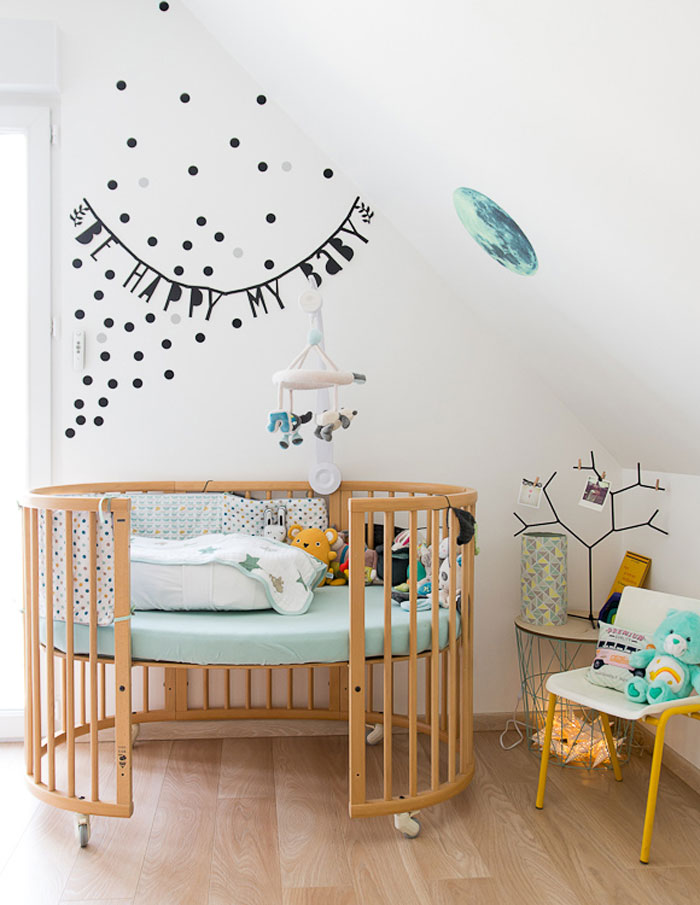 stokke round baby cot