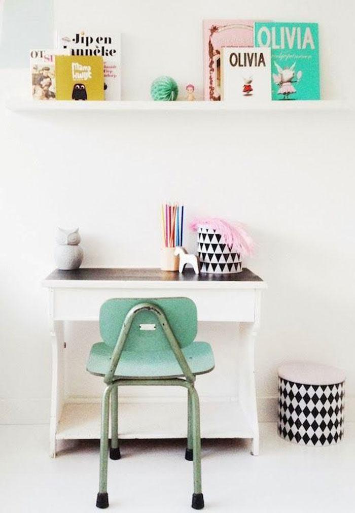 mint green kids chair