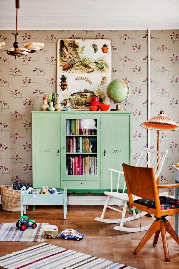mint green retro furniture