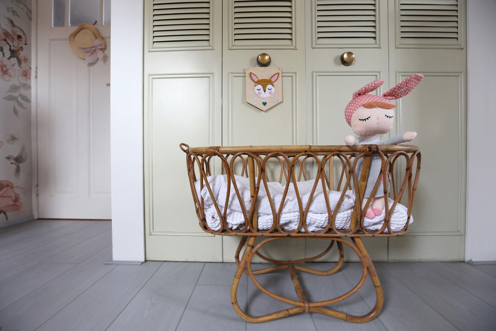 rattan vintage crib