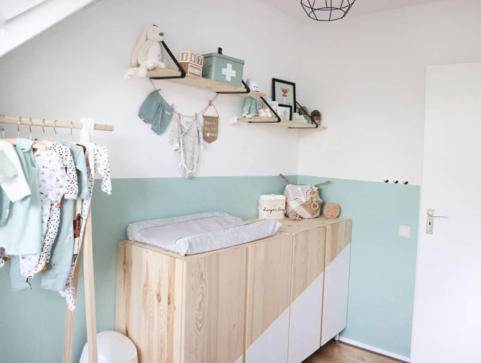 mintgreen paint for kid's room