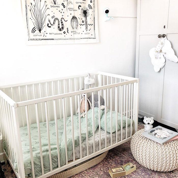 mint green nursery bedding