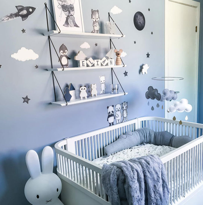 blue in boy nurseries