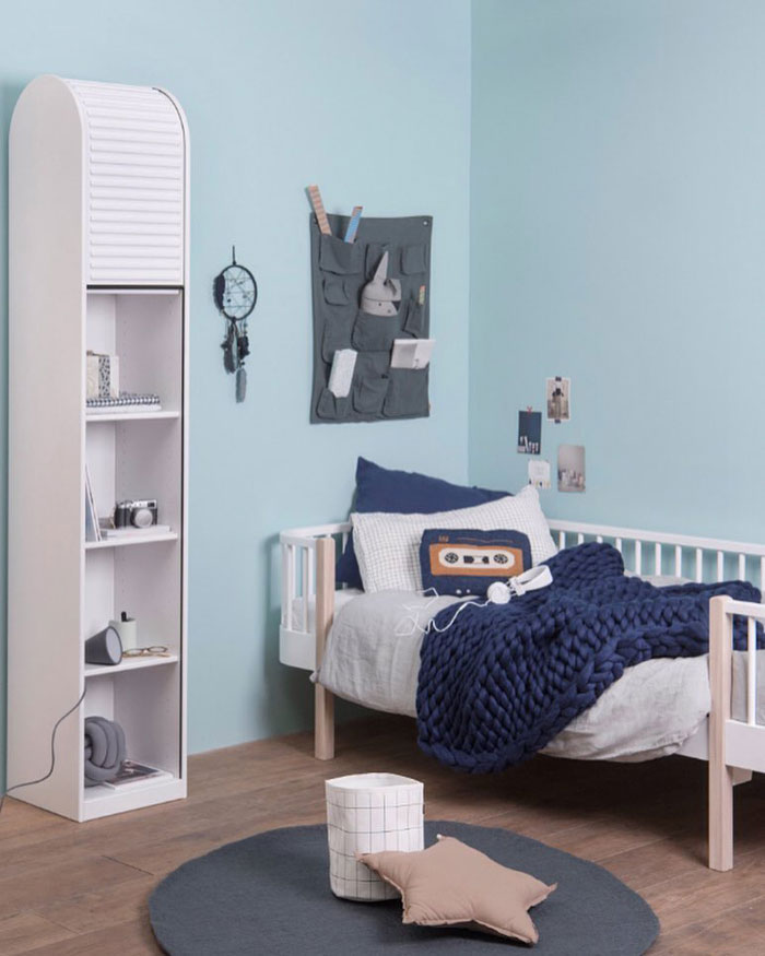 kids rooms with navy blue
