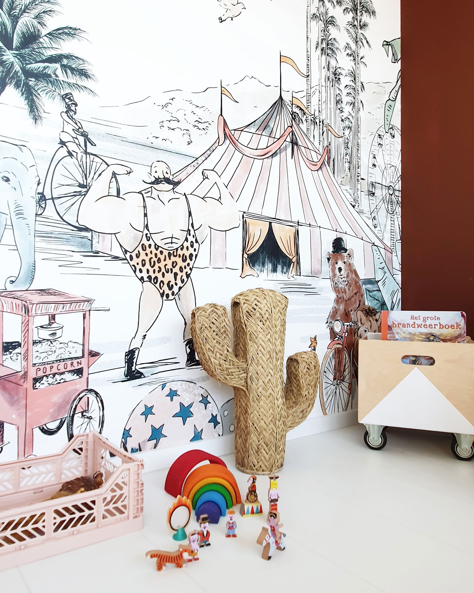 circus themed childrens room