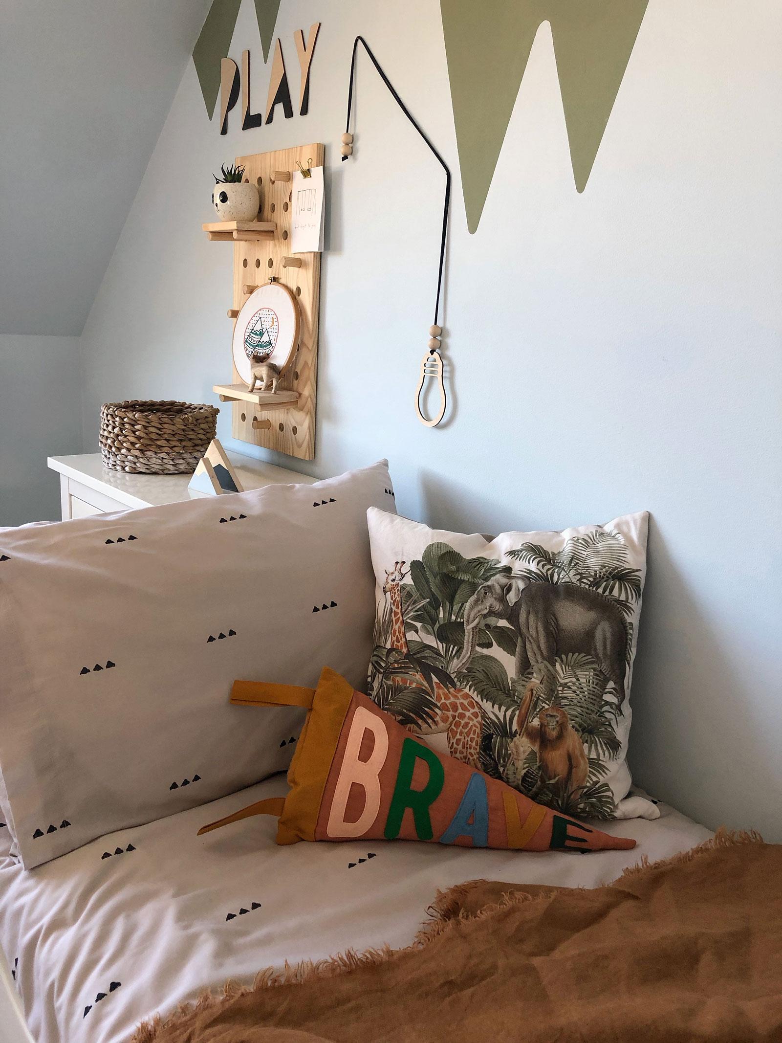 banner style cushion handmade