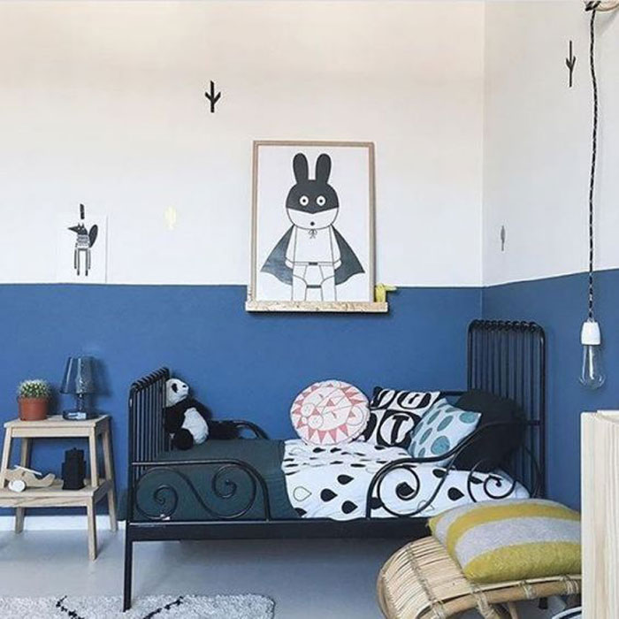 blue paint ideas kid's room