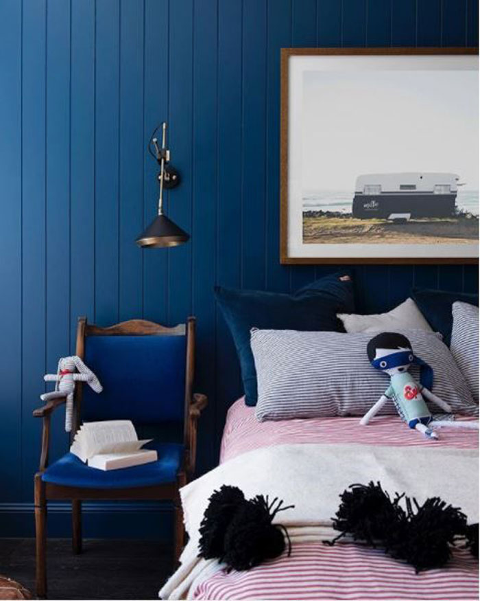 blue walls in kids rooms