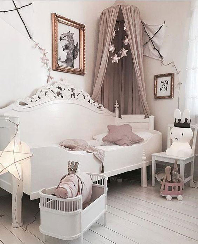 romantic style kids bed