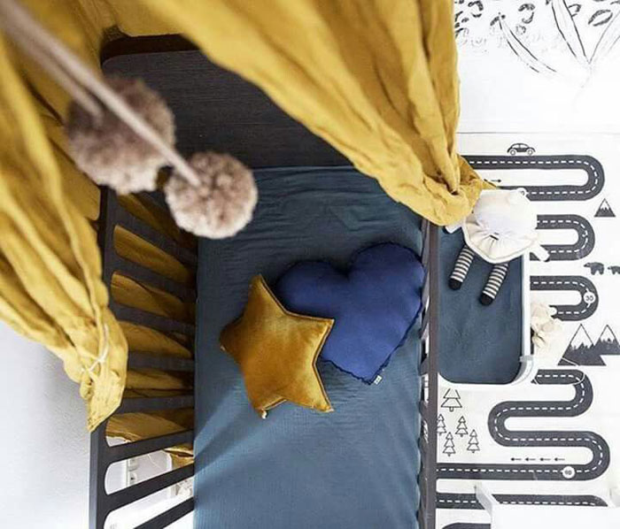 blue cot sheets