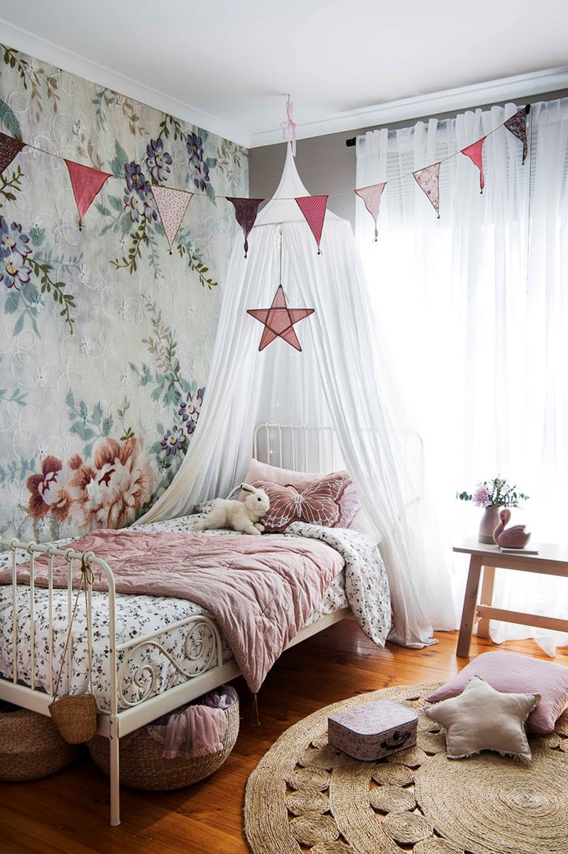 romantic style girl's room ideas