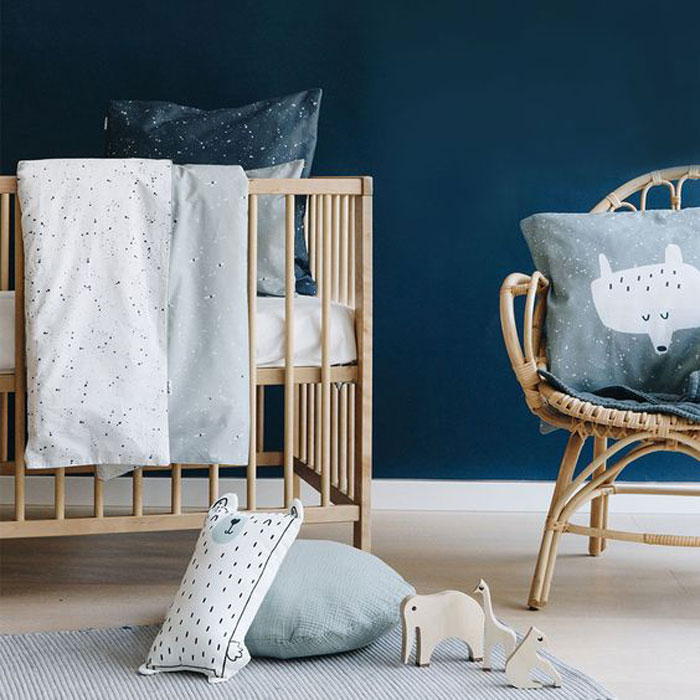 navy blue nursery room