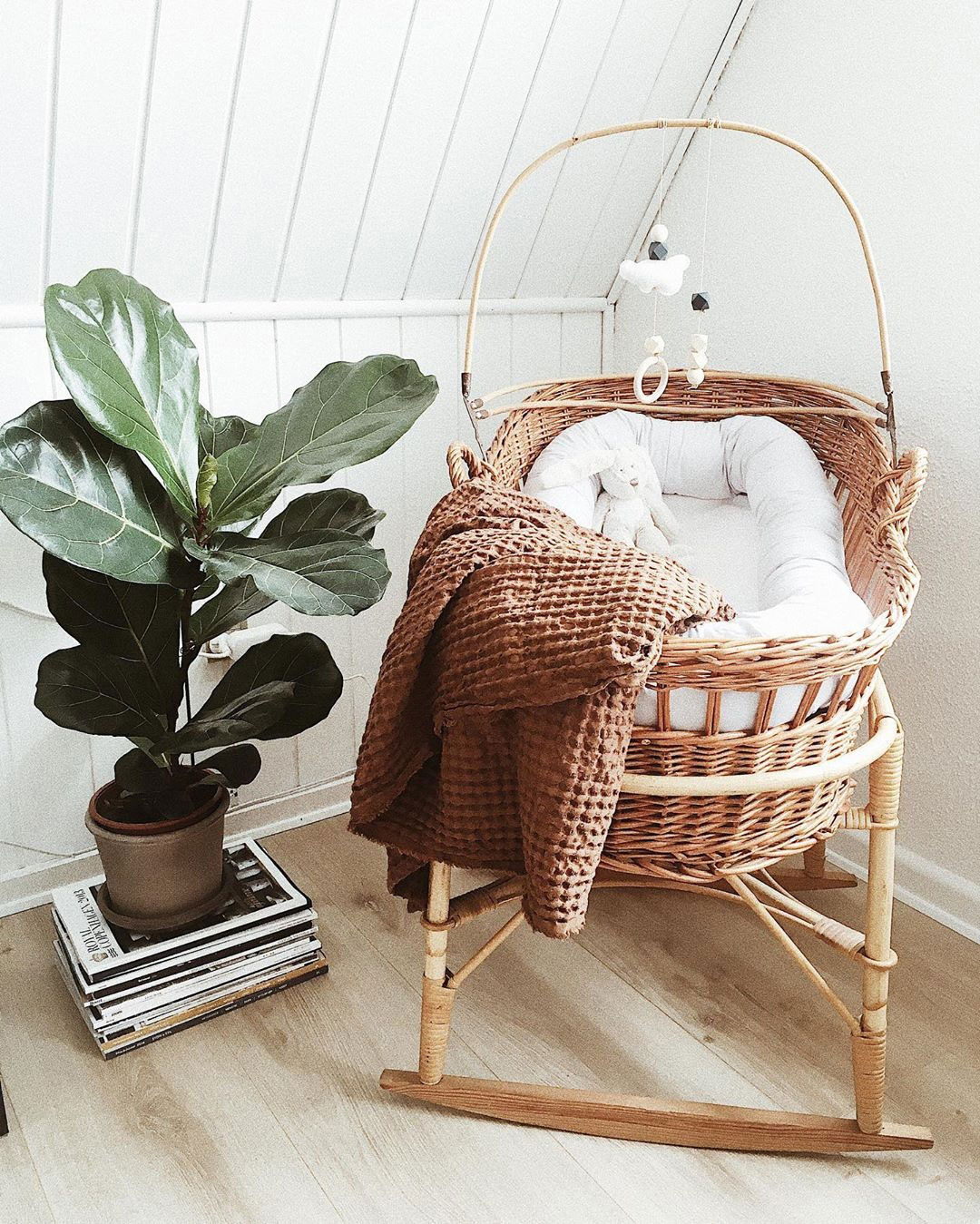 traditional wicker moses basket