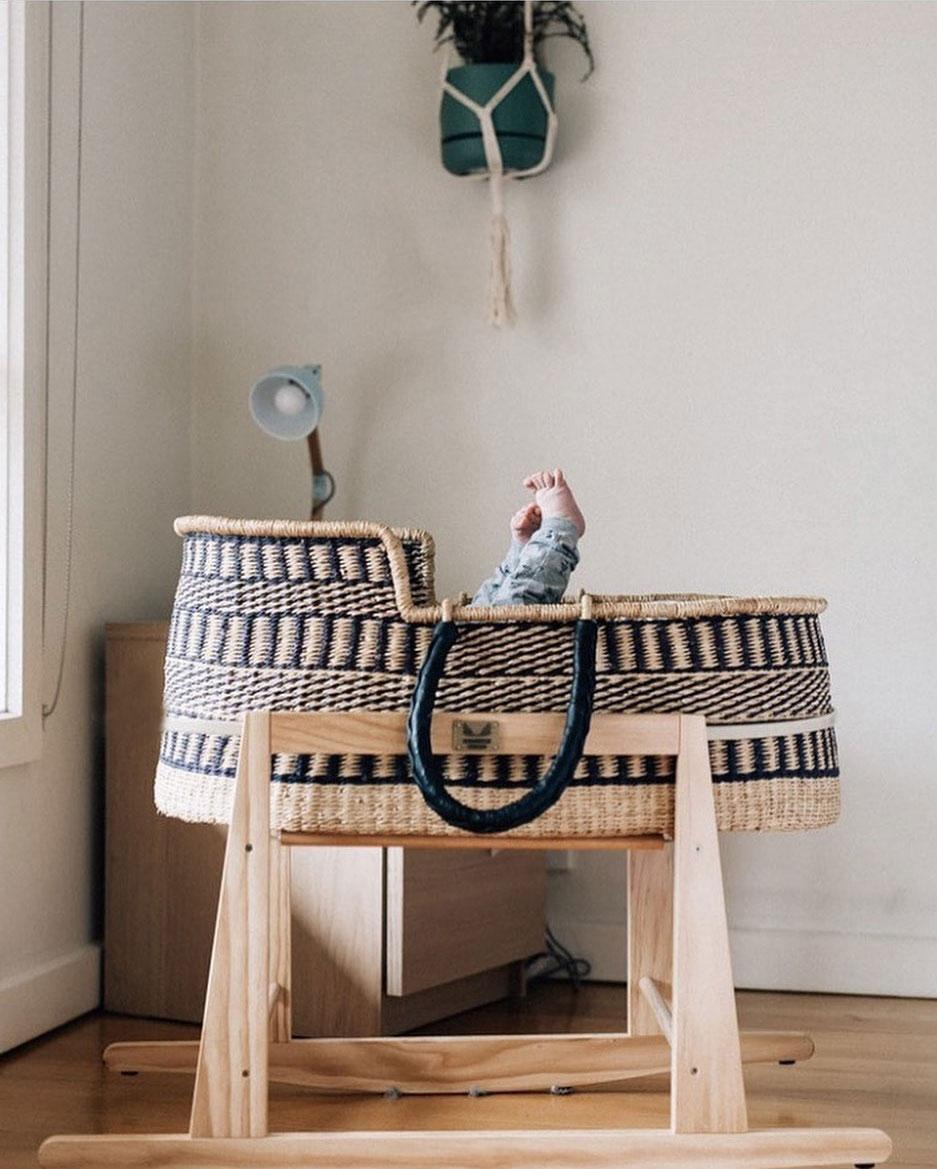boho ethnic style moses basket