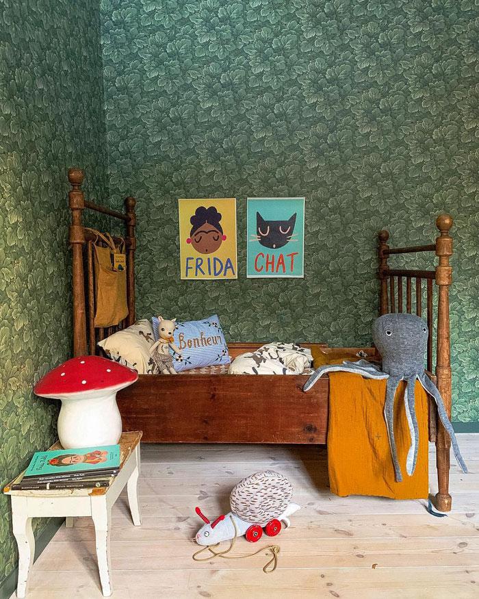 swedish vintage kid's room