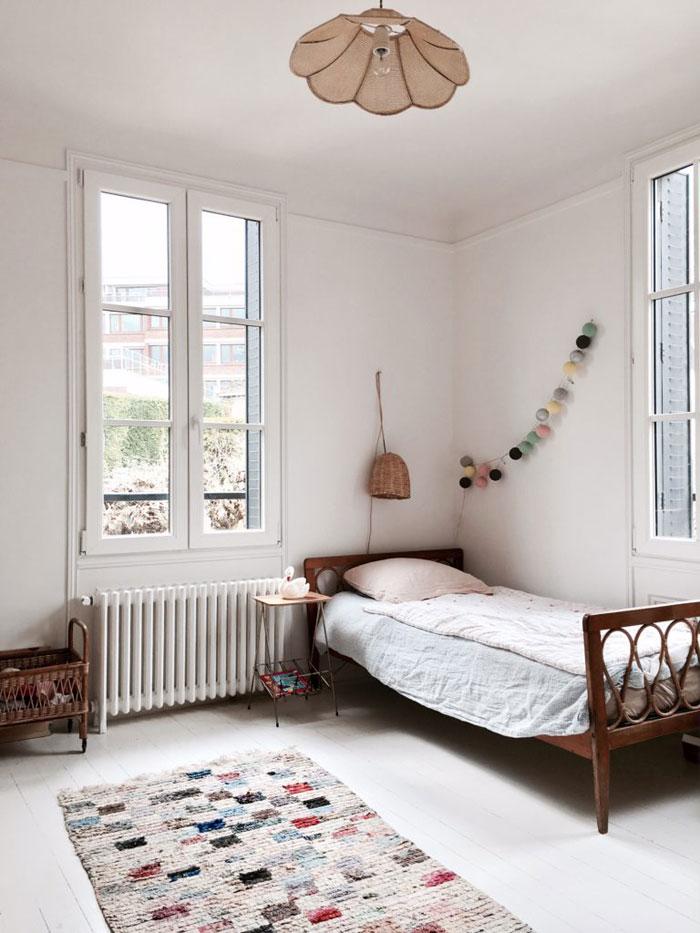 rattan vintage kids bed