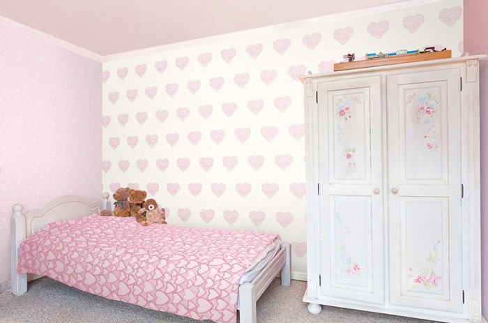 childrens bedding with hearts