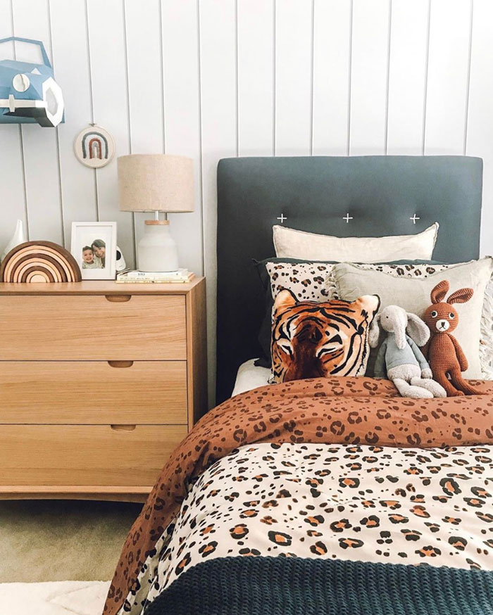 padded headboard kid's bed
