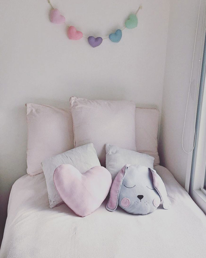 heart garland baby kid's room