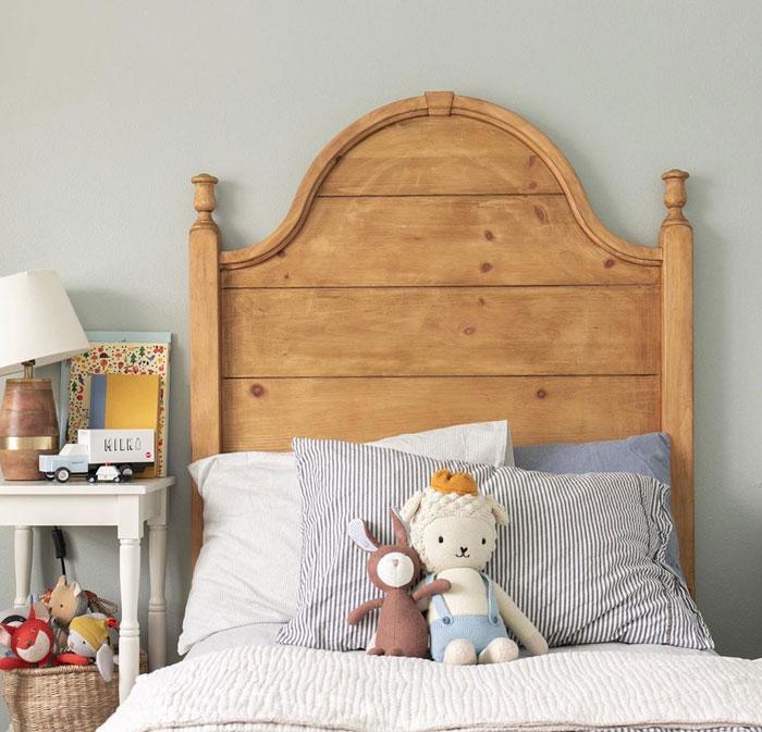 vintage headboard kid's bed